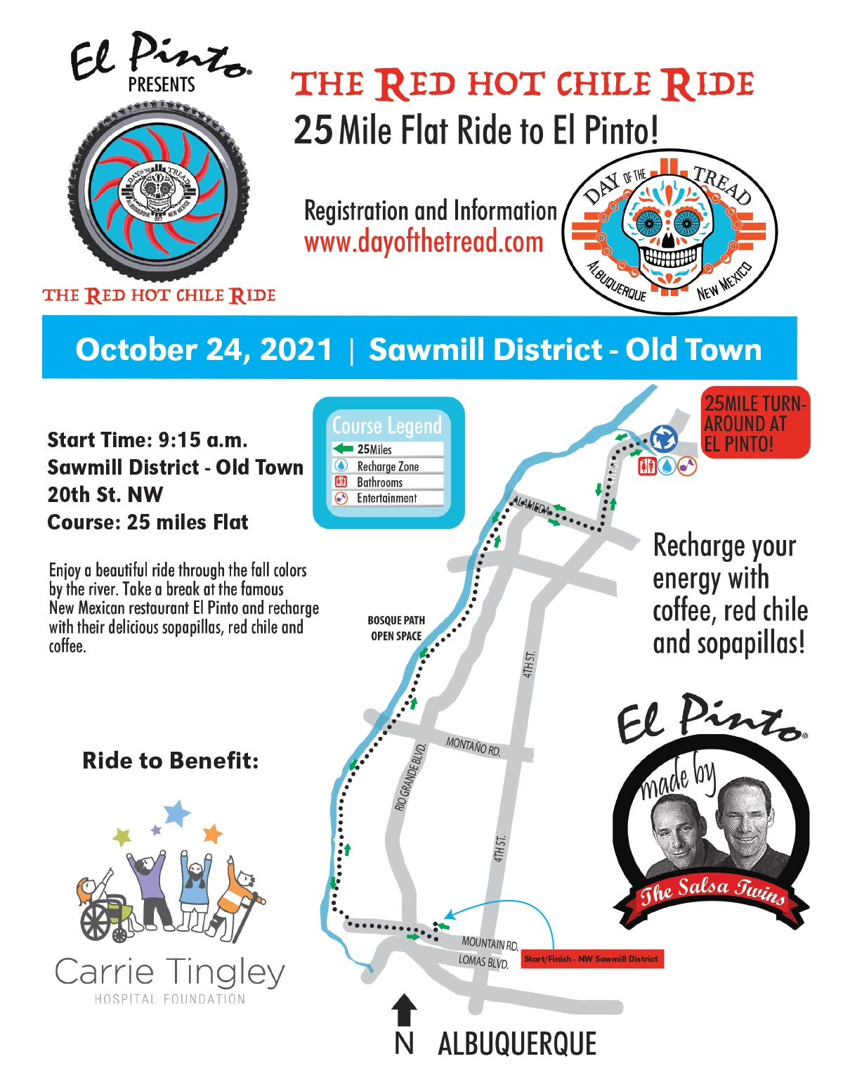 Red Hot Chile Ride map/flyer